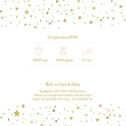 Chique geboortekaartje meisje confetti 2