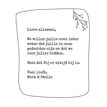 Christelijke kaart - I am with you always  3