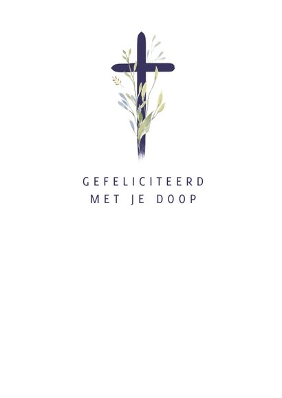Christelijke kaart kruis met twijgjes 3