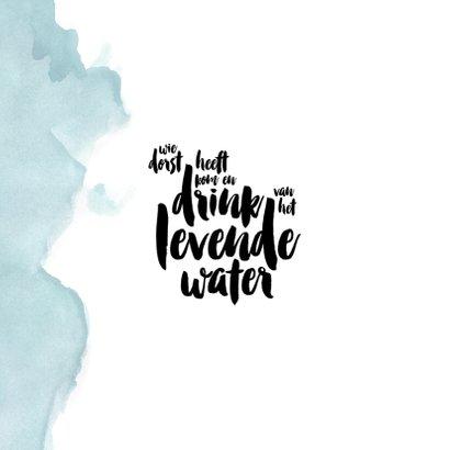 Christelijke kaart levend water 2