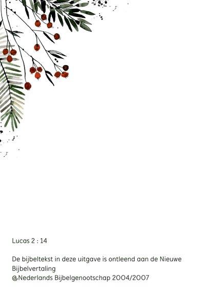 Christelijke kerstkaart bessentakjes 2