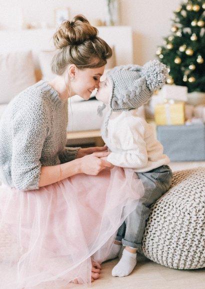 Christelijke kerstkaart geloof hoop en liefde - met sterren 2