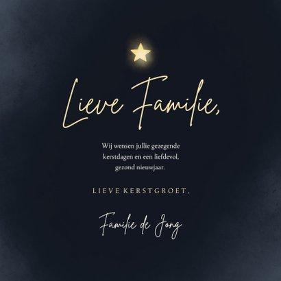 Christelijke Kerstkaart met engel foto en sterren 3