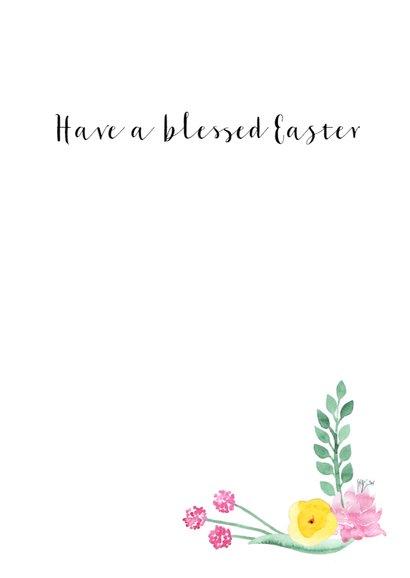 Christelijke paaskaart Bloemen 3