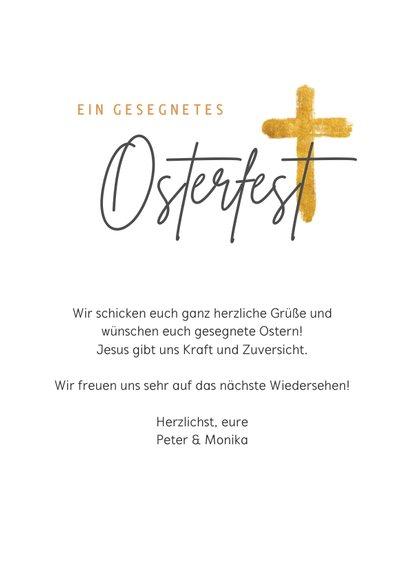 Christliche Ostergrußkarte Rosenkranz 3