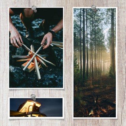 collagekaart met houtachtergrond en 3 foto's 2