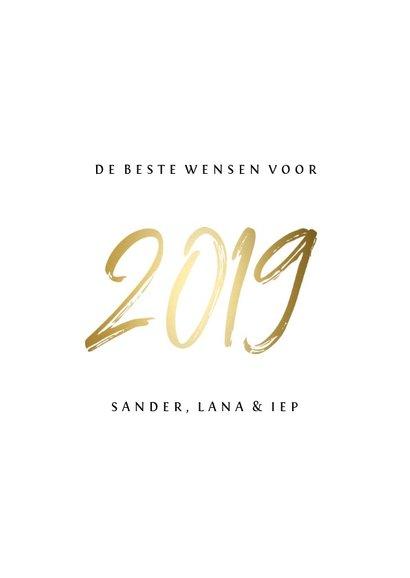 Collagekaart stijlvol '2019' goud 3