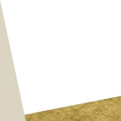 Communie bedank kaart fotoserie op goud Achterkant