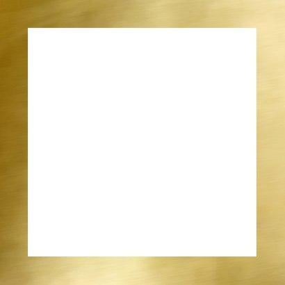 Communie bedankkaart fotocollage goud Achterkant