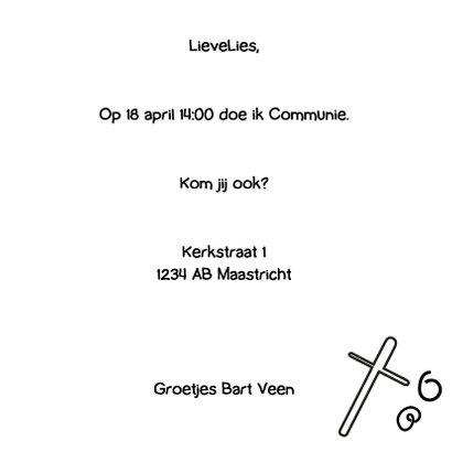 Communie doodle zwart wit - BK 3