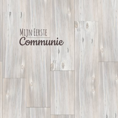 Communie foto op hout 3