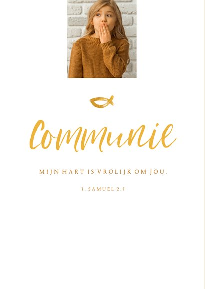 Communie fotokaart uitnodiging handschrift 2