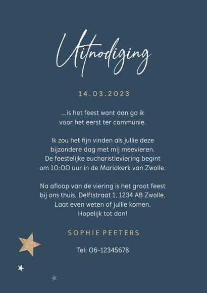 Communie houten sterren save the date uitnodiging stijlvol 3