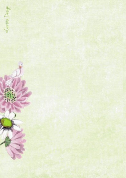 Communie Meisje Bloemen Duifje R 2