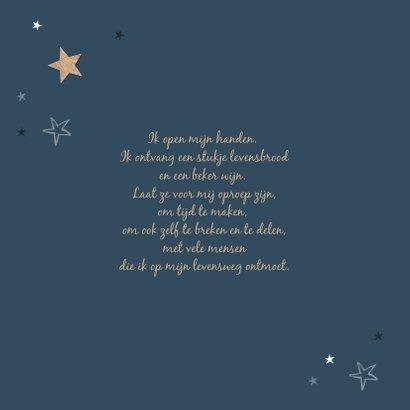Communie sterren hout uitnodiging stijlvol 2