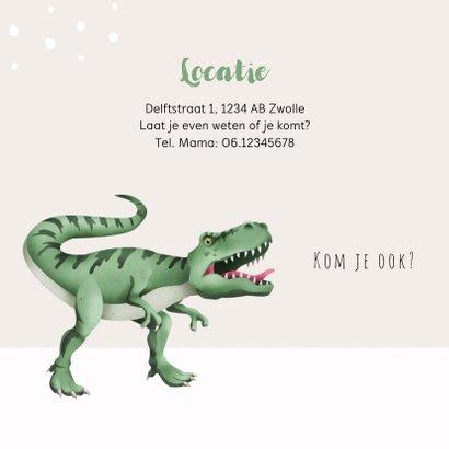 Communie uitnodiging dino t-rex foto 2