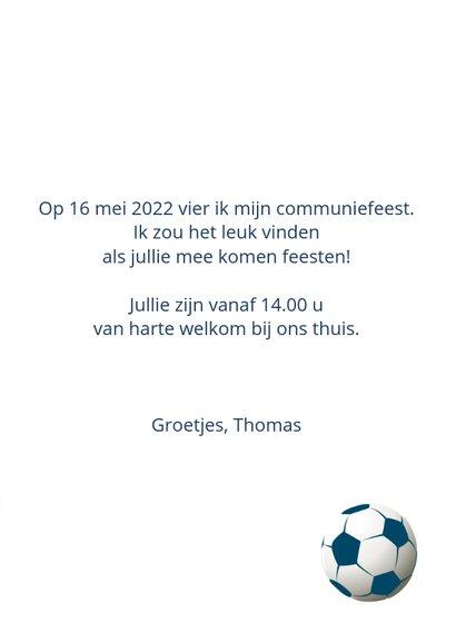 Communie uitnodiging voetbal 3