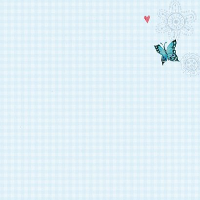 Communie Vlinders BB ruitje blue 3