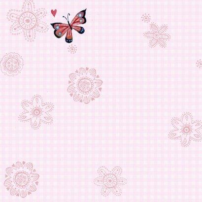 Communie Vlinders Bloemen BB meisje roze 2
