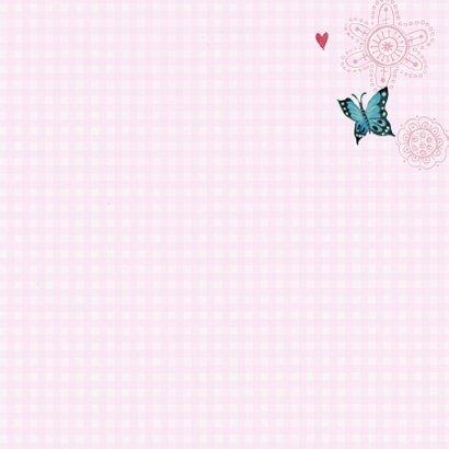 Communie Vlinders Bloemen BB meisje roze 3