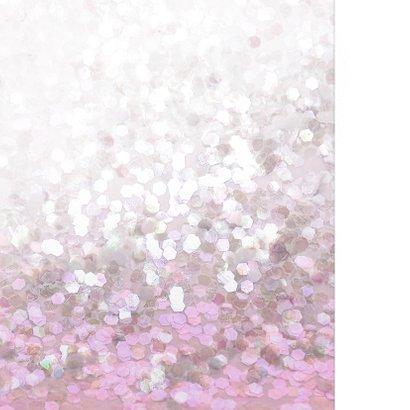 Communie  vormsel glitter roze lief 2
