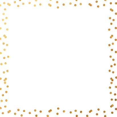Communiekaart foto gouden confetti 2