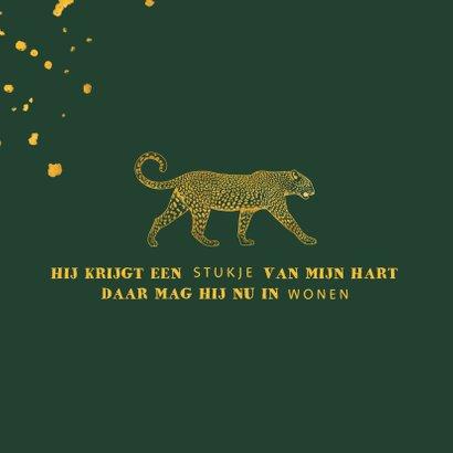 Communiekaart leopard goudlook met spetters 2