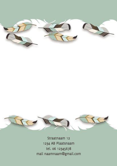 Communiekaart met natuur en veren 2