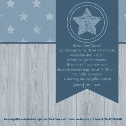 Communiekaart vlag en sterren 3