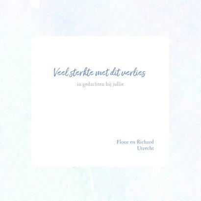 Condoleance - bloem waterverf blauw 3