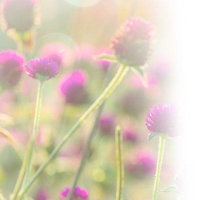 Condoleance - gedicht met bloemen 2