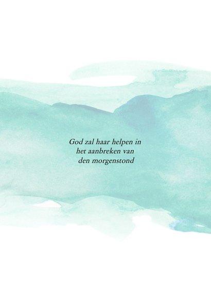 Condoleance - God is ons een Toevlucht en Sterkte 2