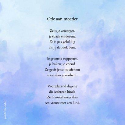 Condoleance grote waterverf M met gedicht over moeder 2