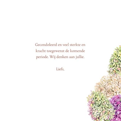 Condoleance hortensiabloemen 3