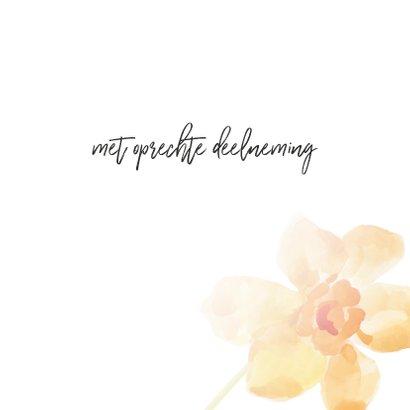 Condoleance - kaart met gedicht oranje 3