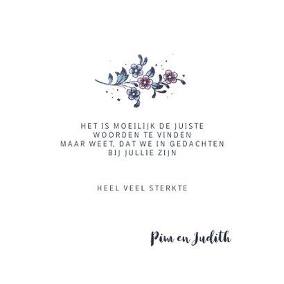 Condoleance kaart sterkte cirkel van bloemen 3