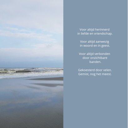 Condoleance kaart - zee en strand 2