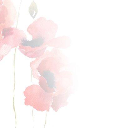 Condoleance - klaprozen veel sterkte waterverf 2