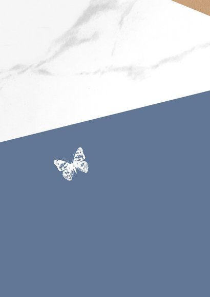 Condoleance - Marmer met kraft en vlinder 2