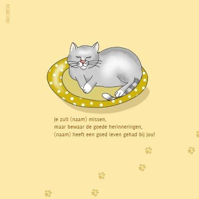 Condoleance - meisje met katje 2