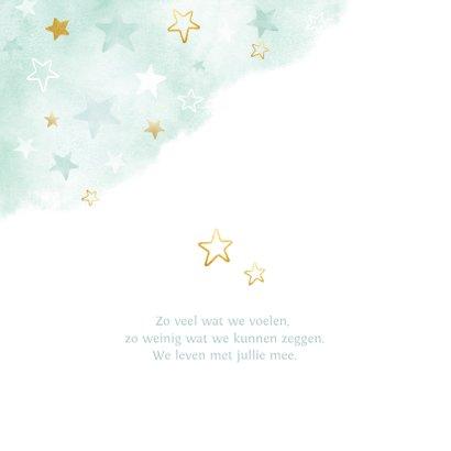 Condoleance met sterren waterverf en goud 2