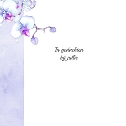 Condoleance orchidee vlinder 2
