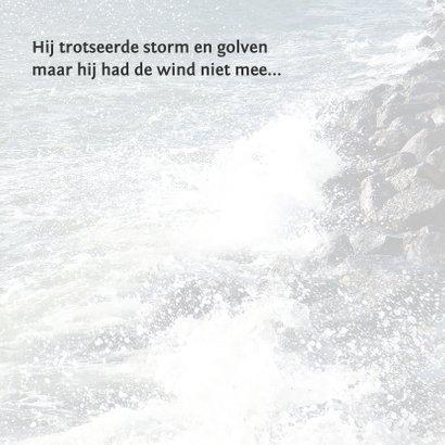 Condoleance rots, storm en golven 2