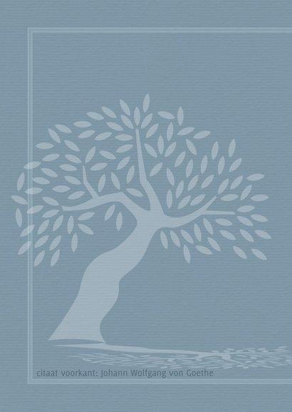 Condoleance Silhouet van boom met schaduw 2