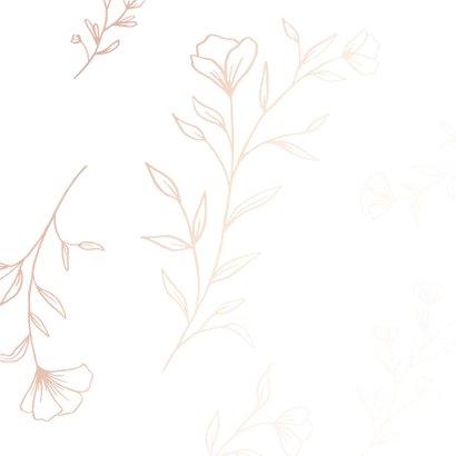 Condoleance - stil rand bloemen 2