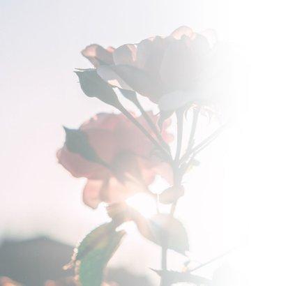 Condoleance - veel sterkte met naam roos  2