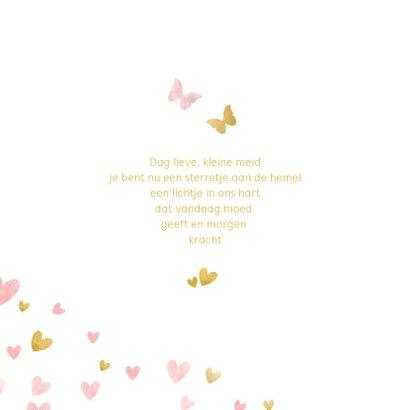 Condoleance waterverf silhouet met vlinders waterverf roze 2