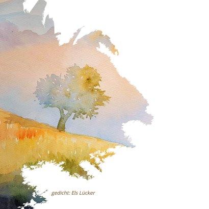 Condoleance waterverf zomerse boom 2