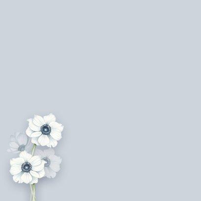 Condoleance witte anemonen 2