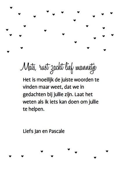 Condoleancekaart Beertje Mint 3